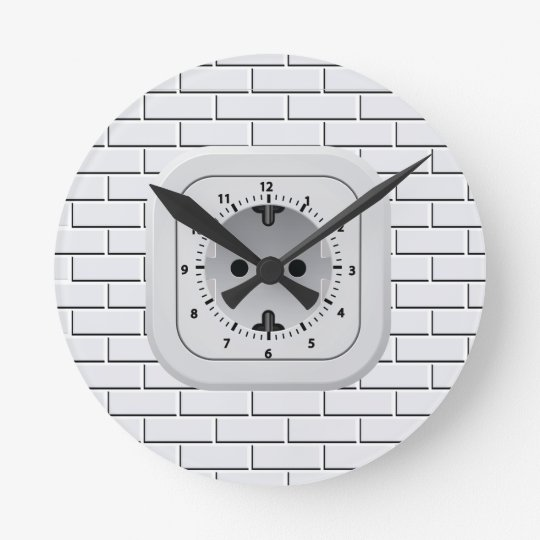 Power Outlet  Wall Clock