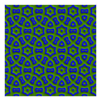 power pattern 01 blue (C) Poster