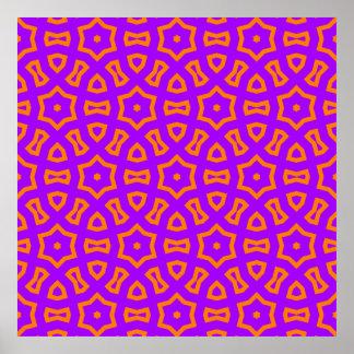 Power Pattern 01 pink,orange (C) Poster