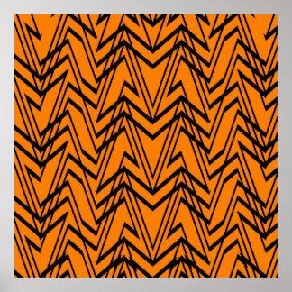 power pattern 06 orange (C) Poster