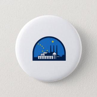 Power Plant Alaska Flag Half Circle Retro Button