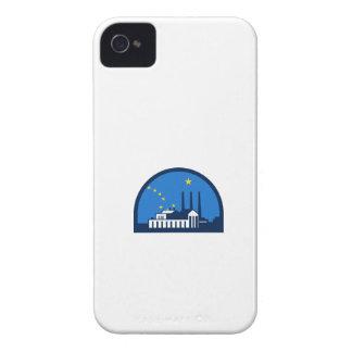 Power Plant Alaska Flag Half Circle Retro iPhone 4 Cover
