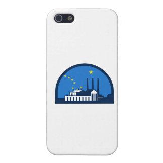 Power Plant Alaska Flag Half Circle Retro iPhone SE/5/5s Cover