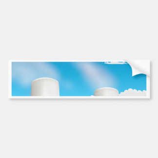 Power Plant Cooling Towers Bumper Sticker