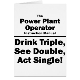power plant operator card