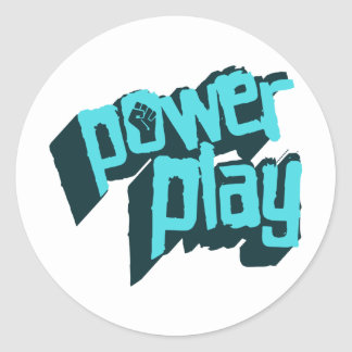 Power Play Classic Round Sticker