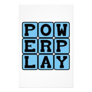 Power Play Ice Hockey Opportunity Custom Stationery