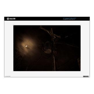 """Power Pole Night Shot Pulaski Virginia 15"""" Laptop Skins"""