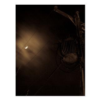 Power Pole Night Shot Pulaski Virginia Postcard