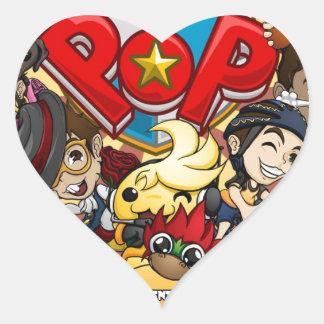 Power Pop Game Official Merchandise Heart Stickers