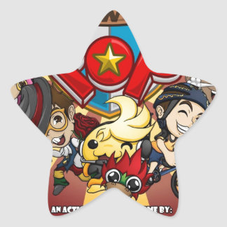 Power Pop Game Official Merchandise Star Sticker