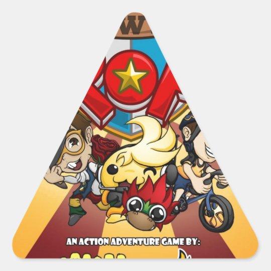 Power Pop Game Official Merchandise Triangle Sticker