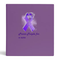 Power Purple For a Cure Binder
