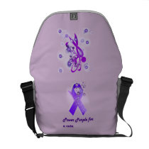 Power Purple For a Cure Travel Bag