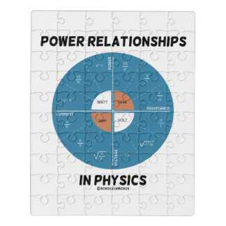 Power Relationships In Physics Power Wheel Chart Jigsaw Puzzle