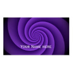 Power Spirals Fractal Pattern - violet Double-Sided Standard Business Cards (Pack Of 100)