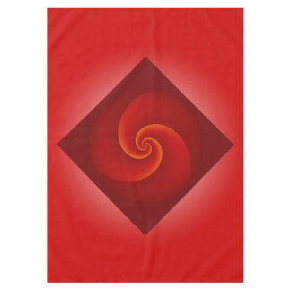 Power Spirals Fractal - red + your ideas Tablecloth
