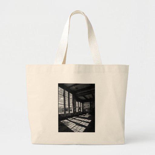 power station 8 bw jumbo tote bag