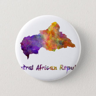 Power station African Republic in watercolor Button