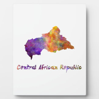 Power station African Republic in watercolor Plaque