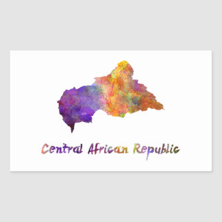 Power station African Republic in watercolor Rectangular Sticker