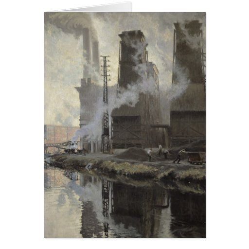 Power Station at Croix-Wasquehal Greeting Card