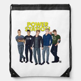 Power Station Drawstring Backpack