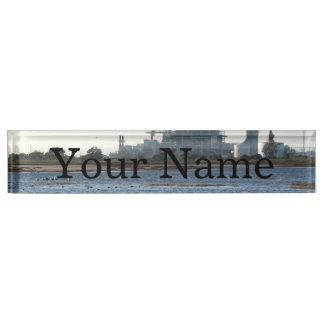 Power Station Desk Name Plate