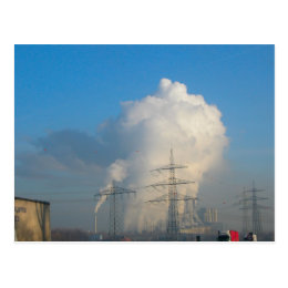 Power Station Pollution 1 Postcard