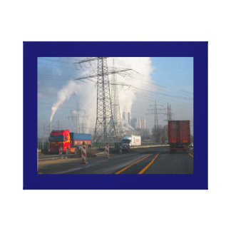Power Station Pollution 6 Canvas Print