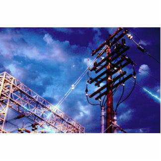 Power substation and pole photo cutout