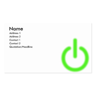 Power_Supply Business Card Template