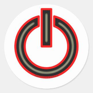 Power Symbol Classic Round Sticker