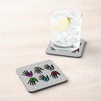 Power Symbols Hands of Color Beverage Coaster