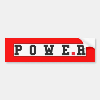 power text message emotion feeling red dot square bumper sticker