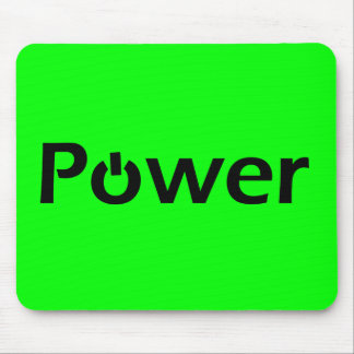 Power Text Mouse Pad