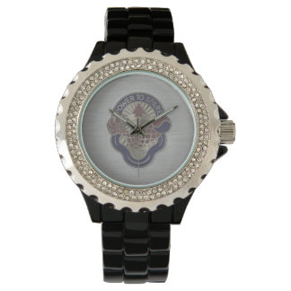 Power to Spare (embossed on brushed metal) Wrist Watch
