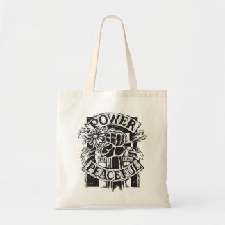 Power To The Peaceful Budget Tote Bag