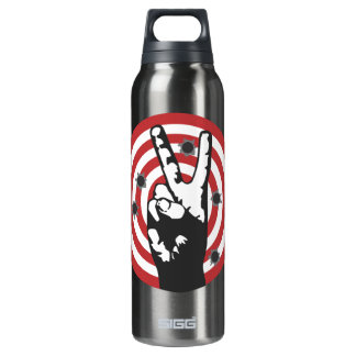 Power To The Peaceful - Bullseye 16 Oz Insulated SIGG Thermos Water Bottle
