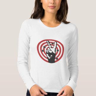 Power To The Peaceful - Bullseye Tee Shirt