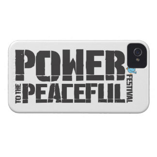 Power To The Peaceful Festival iPhone 4 Cover