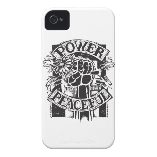 Power To The Peaceful iPhone 4 Case-Mate Case