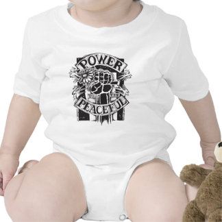 Power To The Peaceful Baby Bodysuits