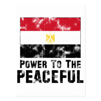 Power to the Peaceful Vintage Postcard