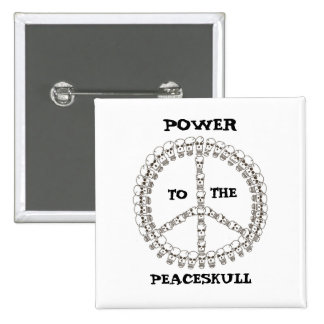 Power to the peaceskull 2 inch square button
