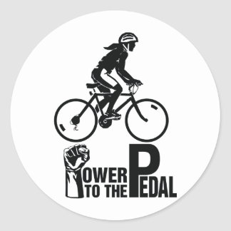 Power To The Pedal Classic Round Sticker