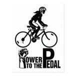 Power To The Pedal Postcard