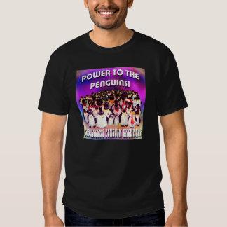 Power to the Penguins! Dark T-Shirt