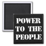 Power to the People 2 Inch Square Magnet