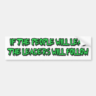 power to the people car bumper sticker